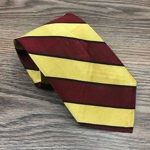 Robert Talbott Red, Gold & Black Stripe Tie
